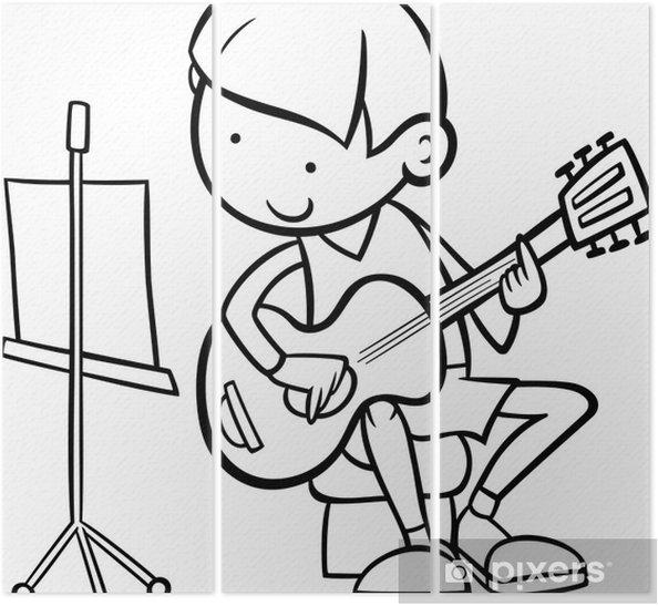 Gitar Boyama Ile çocuk üç Parçalı Pixers Haydi Dünyanızı