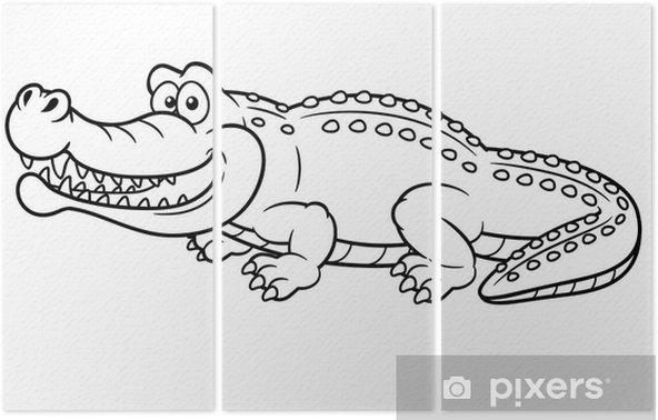 Karikatur Timsah Illustrasyon Kitap Boyama Uc Parcali Pixers