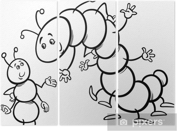 Karınca Ve Tırtıl Boyama üç Parçalı Pixers Haydi Dünyanızı