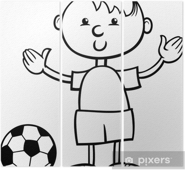 Top Karikatür Boyama Ile çocuk üç Parçalı Pixers Haydi