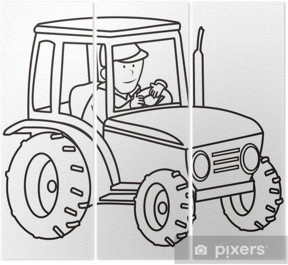 Traktör Boyama Kitabı üç Parçalı Pixers Haydi Dünyanızı