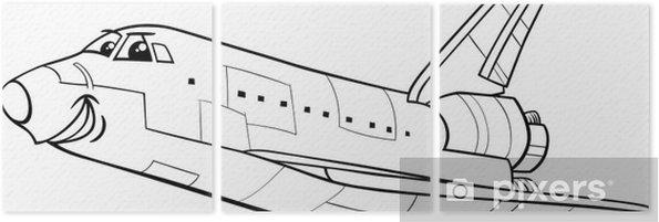 Uzay Mekiği Boyama Kitabı üç Parçalı Pixers Haydi Dünyanızı