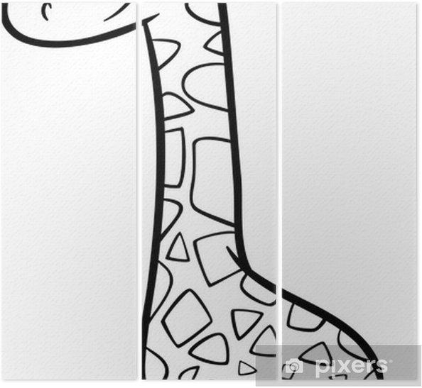 Zürafa Karikatür Boyama üç Parçalı Pixers Haydi Dünyanızı