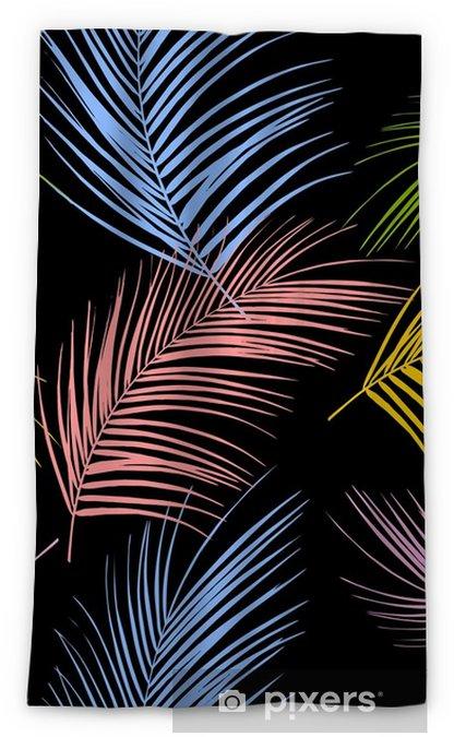 Verduisterend gordijn Bladeren van palmboom. tropische bladeren. naadloos patroon. vector achtergrond - Grafische Bronnen