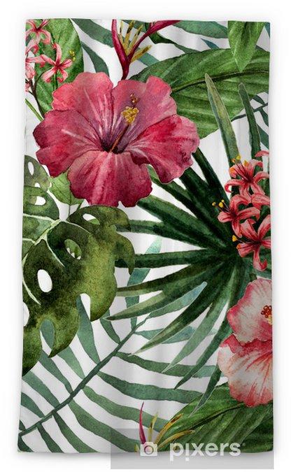 Verduisterend gordijn Patroon orchidee hibiscus verlaat aquarel tropen - Bomen