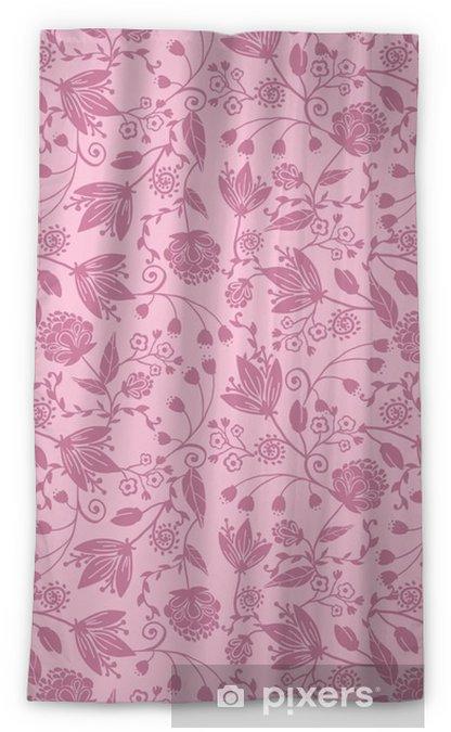 Verduisterend gordijn Vector paarse silhouetten bloemen elegante naadloze patroon - Bloemen en Planten