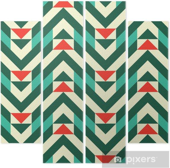 Vierluik Abstract geometrisch patroon - Mode
