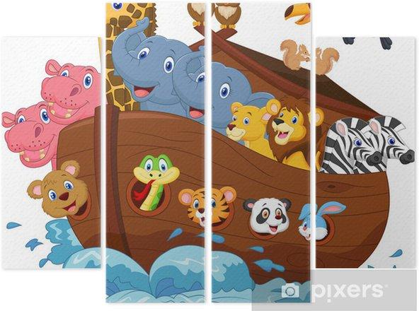 Vierluik Noah's Ark cartoon - Kleuter