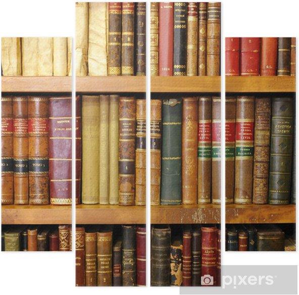 Vierluik Oude boeken, bibliotheek - bibliotheek