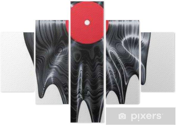 Vijfluik Melting vinylplaat / 3D render van vinyl record smelten - Hobby's en Vrije tijd