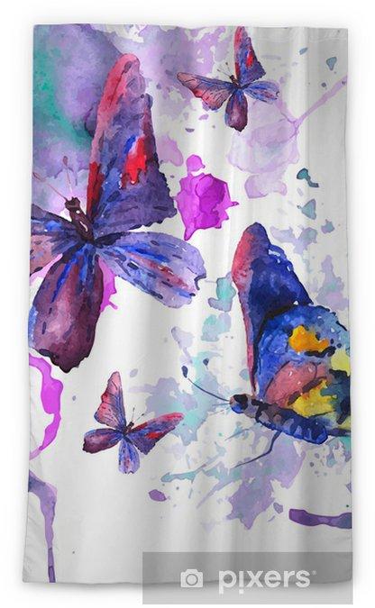 Zasłona okienna nieprzepuszczająca światła Abstrakcyjna Akwarele tła z motyli - Tematy