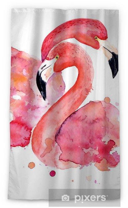 Zasłona okienna nieprzepuszczająca światła Akwarela różowe flamingi - Hobby i rozrywka