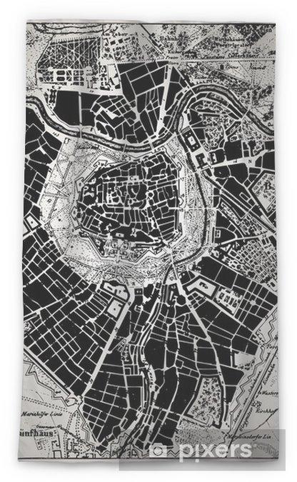 Zasłona okienna przepuszczająca światło Historyczne mapy Wien, Austria. - Tematy