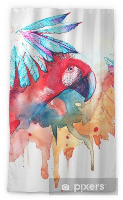 Zasłona okienna przepuszczająca światło Papuga - Zwierzęta