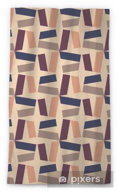 Zasłona okienna przepuszczająca światło Wektor bez szwu kolorowy wzór nowoczesnej geometrii, kolor abstrakcyjne geometryczne tło, poduszka wielobarwny druk, retro tekstury, projektowanie mody hipster - Zasoby graficzne