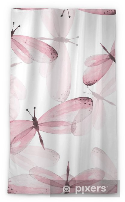 Zasłona okienna przepuszczająca światło Wzór motyli. Jednolite tło wektor. Ilustracja akwarela 10 - Zwierzęta