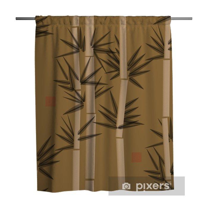 Zasłona prysznicowa Bamboo szwu w odcieniach czerni i złota - Zasoby graficzne