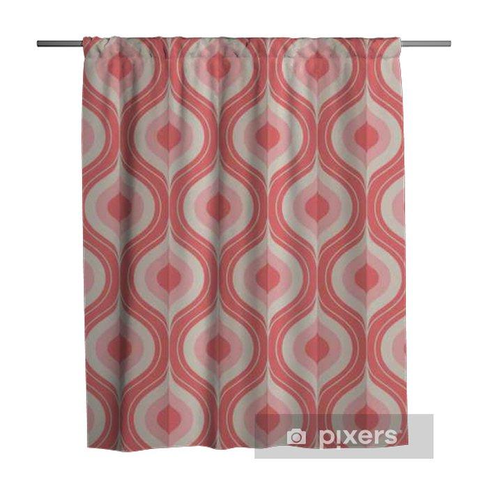 Zasłona prysznicowa Bez szwu rocznika wzór geometryczny - Zasoby graficzne