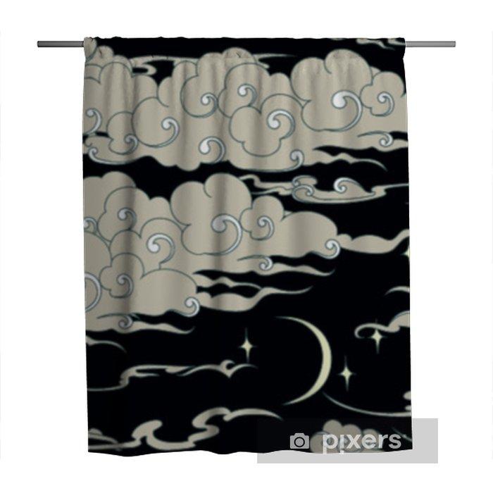 Zasłona prysznicowa Bez szwu wzór chmury - Zasoby graficzne