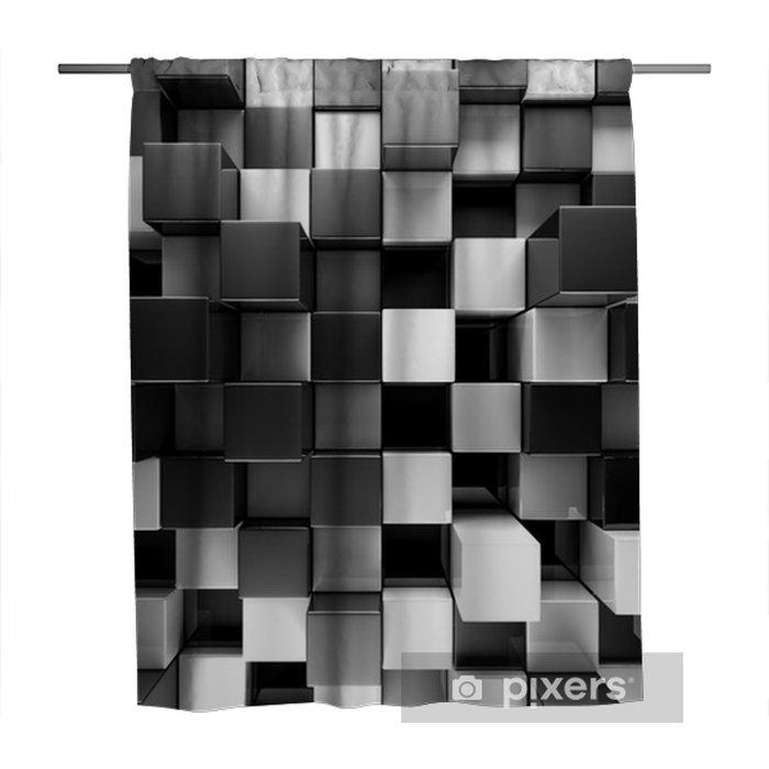 Zasłona prysznicowa Czarno-białe bloki streszczenie tło - Zasoby graficzne