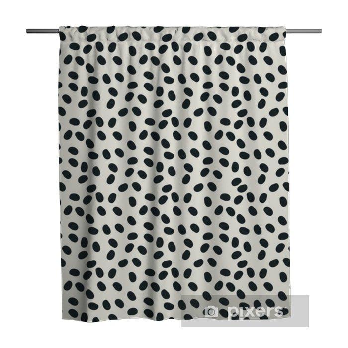 Zasłona prysznicowa Czarno-białe kropki bezszwowe tło wektor powtórzyć - Zasoby graficzne