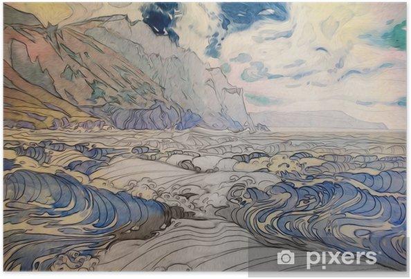 Zelfklevende Poster Морской пейзаж - Landschappen