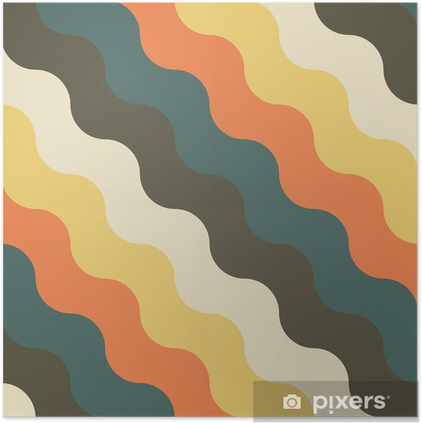 Zelfklevende Poster Abstract retro geometrisch patroon - Achtergrond