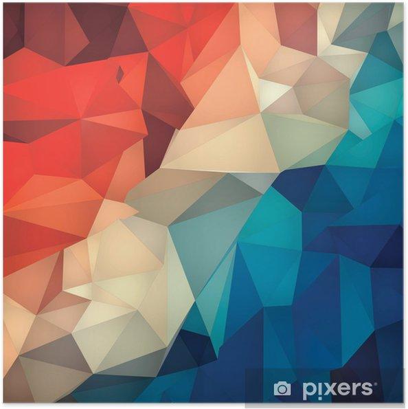 Zelfklevende Poster Abstracte geometrische laag poly achtergrond. - Achtergrond