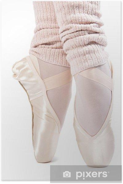 Zelfklevende Poster Benen in ballet schoenen 7 - Lichaamsdelen