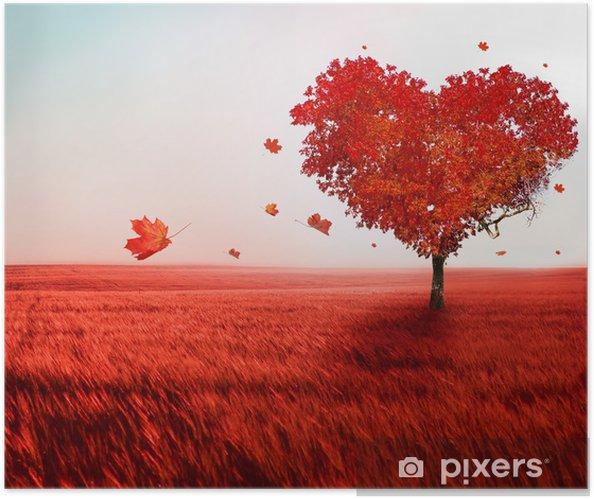 Zelfklevende Poster Boom van de liefde - Thema's