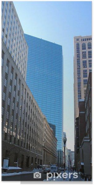 Zelfklevende Poster Boston uitzicht op de stad - Amerika