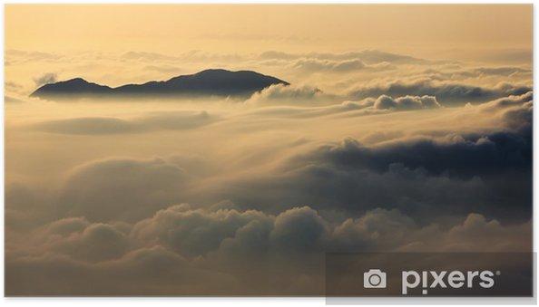 Zelfklevende Poster Boven de Wolken - Thema's