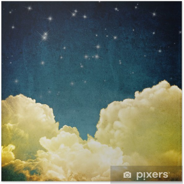 Zelfklevende Poster Cloudscape - Thema's