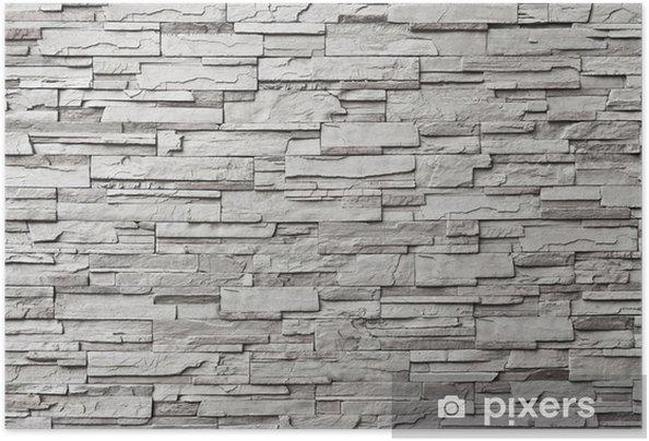 Zelfklevende Poster De grijze moderne stenen muur - Stijlen