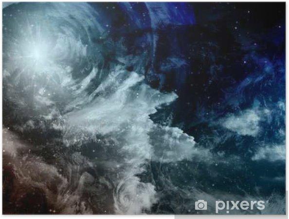 Zelfklevende Poster Deep Space Painting - Wetenschap
