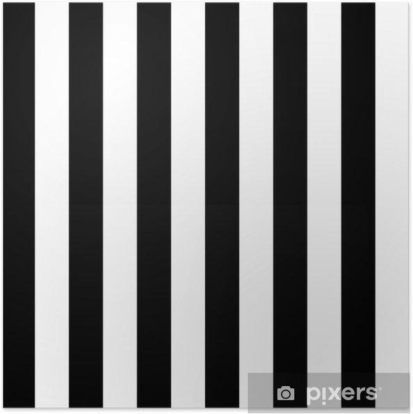 Zelfklevende Poster Diagonale lijnen zwart-wit patroon - Thema's