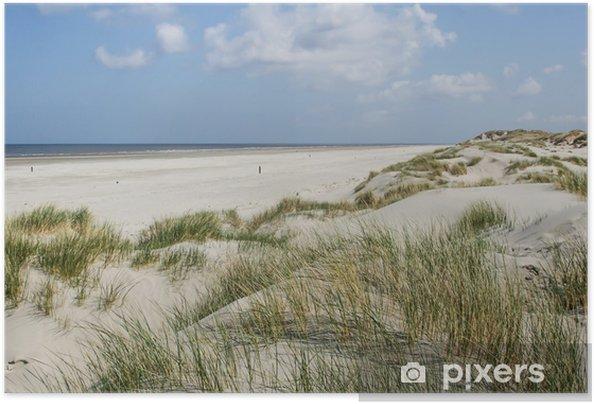 Zelfklevende Poster Duinen bij de kust van Nederland - Nederland