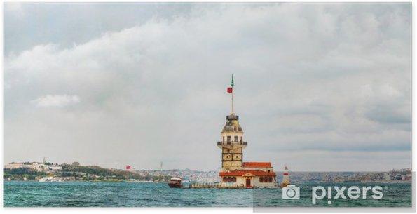 Zelfklevende Poster Eiland Maiden's in Istanbul, Turkije - Azië