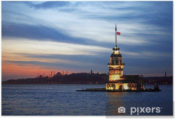 Zelfklevende Poster Istanbul Night -