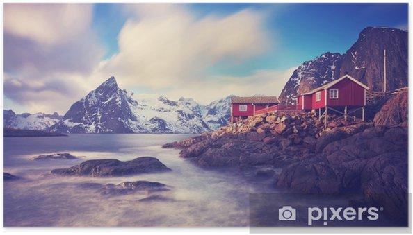 Zelfklevende Poster Lofoten im winter - Landschappen