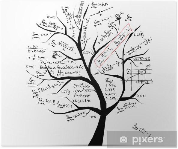 Zelfklevende Poster Math boom voor uw ontwerp - Muursticker
