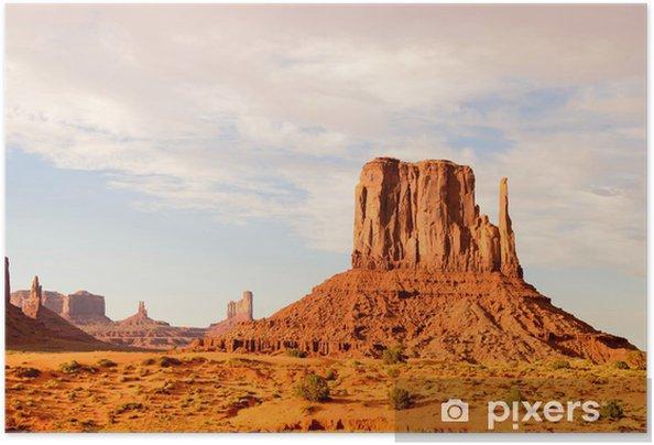 Zelfklevende Poster Monument Valley - Amerika