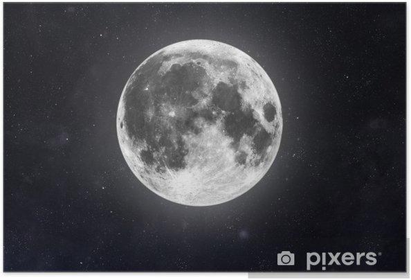 Zelfklevende Poster Moon - Ruimte