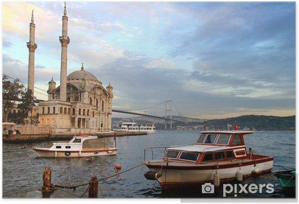 Zelfklevende Poster Ortakoy avond in Istanbul - Midden Oosten