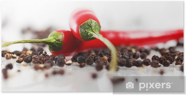 Zelfklevende Poster Rode chili peper - iStaging