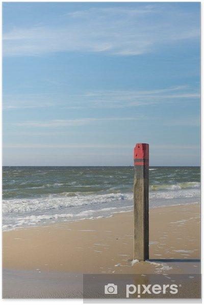 Zelfklevende Poster Strand paal - Vakantie
