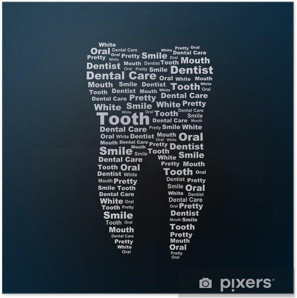 Zelfklevende Poster Tooth - Gezondheid en Geneeskunde