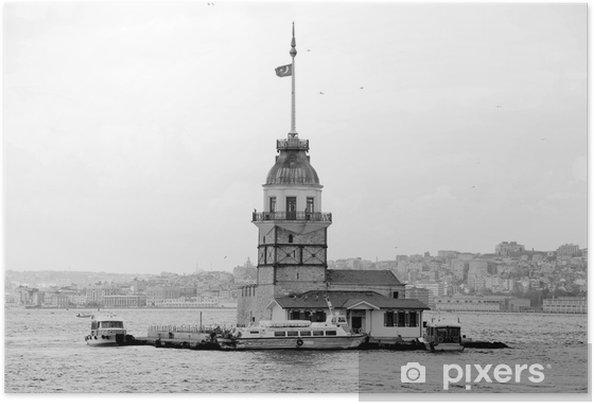 Zelfklevende Poster Toren van het meisje is in istanbul - Midden Oosten