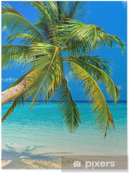 Zelfklevende Poster Tropisch beach -