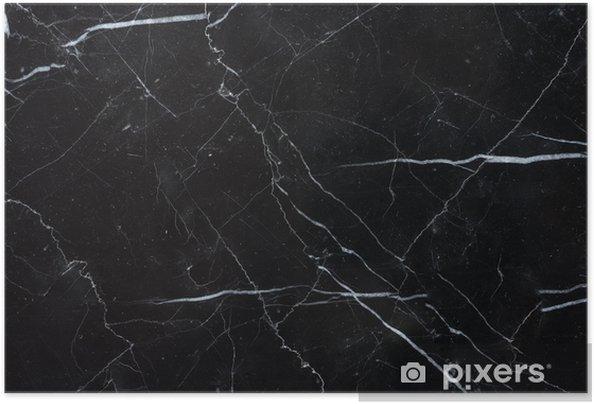 Zelfklevende Poster Zwarte marquina marmer textuur achtergrond - Grafische Bronnen